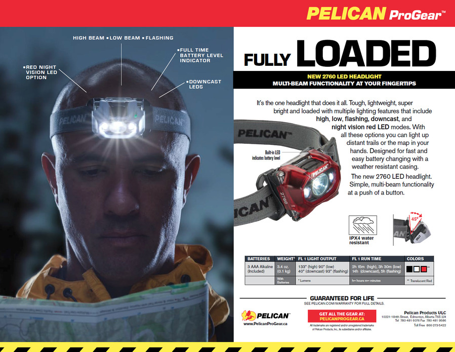 NEW PRODUCT ALERT: Pelican ProGear™ 2760 LED Headlight